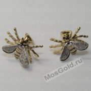 Серьги в виде пчёл