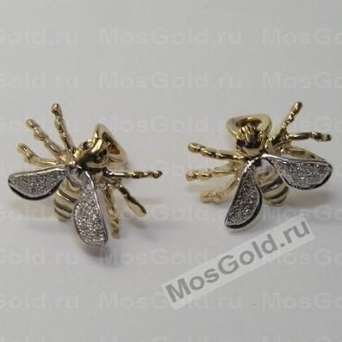 Оригинальные серьги пчёлы