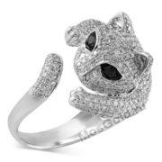 кольцо кошка с бриллиантами