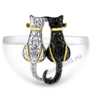 кольцо черная кошка