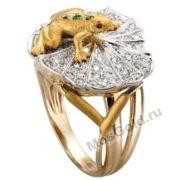 кольцо лягушка на листе кувшинки