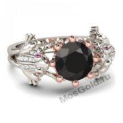 кольцо лягушки с камнем