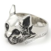 кольцо с головой кошки