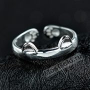 кольцо с ушками кошки