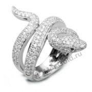 Кольцо змея бриллианты