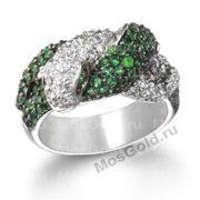 кольцо змея зеленая