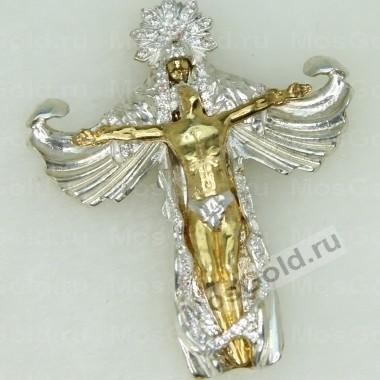 Золотой крестик ручной работы