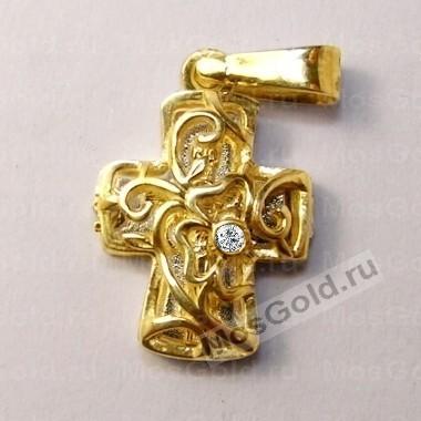 ювелирная мастерская: Золотой открывающиеся крестик