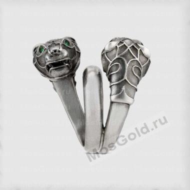 Золотое кольцо тигр Гуччи