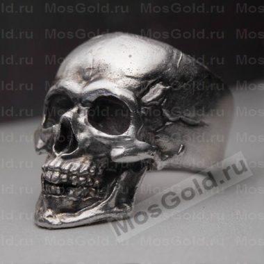 Массивное кольцо череп