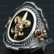 геральдическая лилия кольцо
