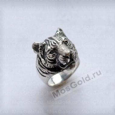 Золотое кольцо голова тигра