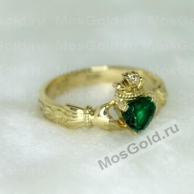 Кладдахское кольцо с изумрудом