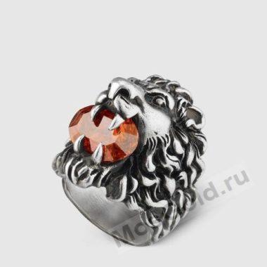 Кольцо Гуччи лев