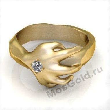 Кольцо в виде руки