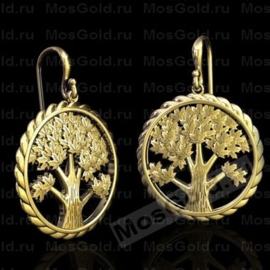Оригинальные серьги в виде дерева