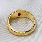 Антикварный перстень мужской с рубином