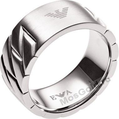 Мужское кольцо Армани из белого золота