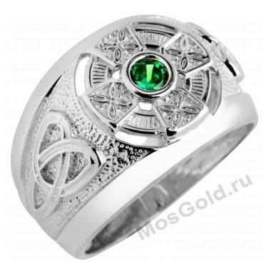 Армянское кольцо белое золото