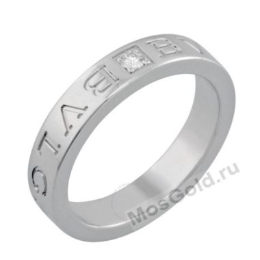Кольцо Булгари из белого золота