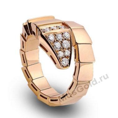 Мужское кольцо BVLgari змея