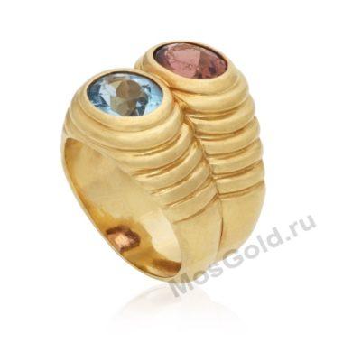 Кольцо Булгари с камнями