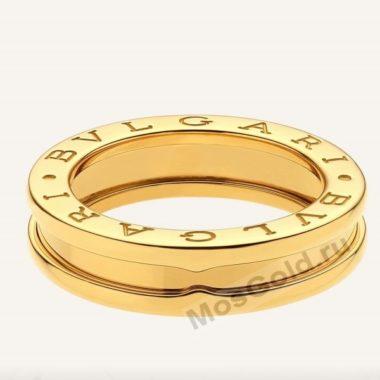 Кольцо Булгари из жёлтого золота