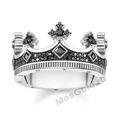 Кольцо корона мужское из золота
