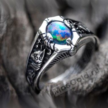 Мужское кольцо с опалом