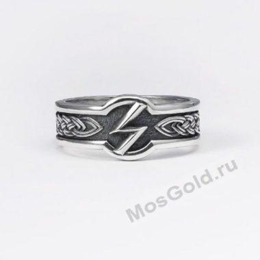 Кольцо руна Соулу из серебра