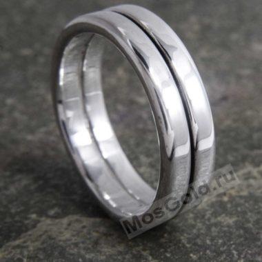 Мужское двойное кольцо