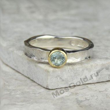 Мужское кольцо с бериллом