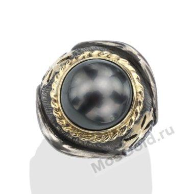 Мужское кольцо с жемчугом