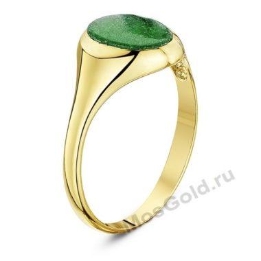 Мужское кольцо с нефритом