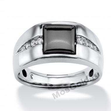 Перстень с гематитом мужской