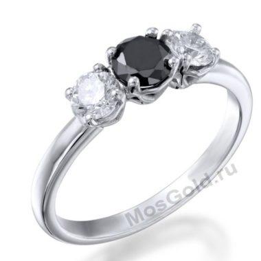 Кольцо с черным камнем женское