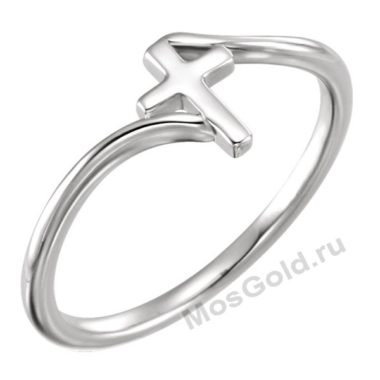 Кольцо с крестом женское