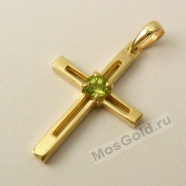 Крест с хризолитом