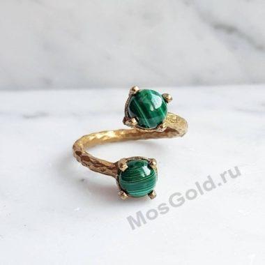 Малахит кольцо женское