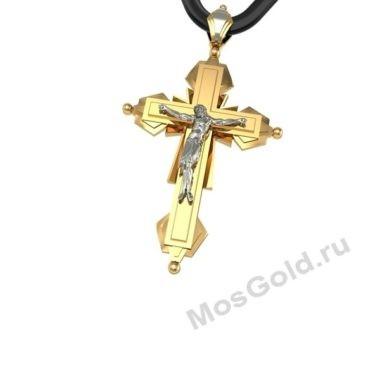 Золотой крест 750 пробы