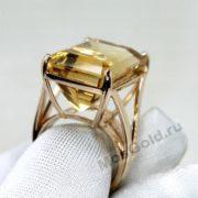 Оригинальное кольцо с цитрином