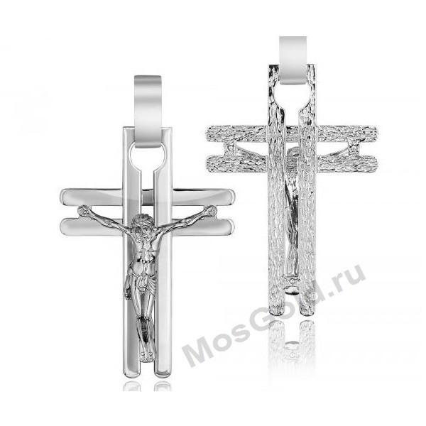 ювелирная мастерская: Крестик из белого золота