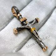 Нательный золотой крест