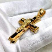 Золотой мужской крест