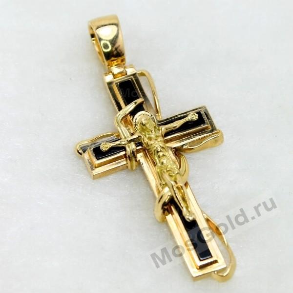 ювелирная мастерская: Золотой крест с агатом