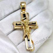 Золотой крест с агатом