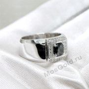 Мужское кольцо с чёрным бриллиантом