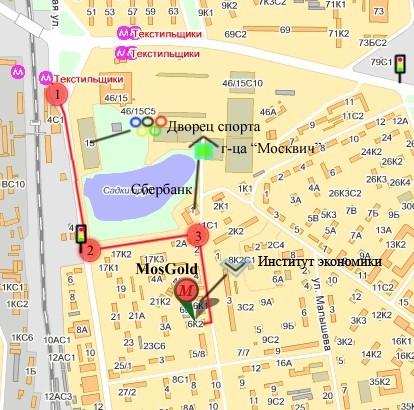 Карта от м. Текстильщики