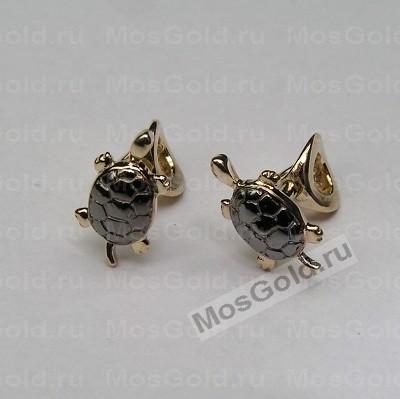 ювелирная мастерская: Золотые серьги черепашки