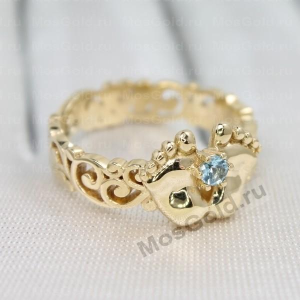 ювелирная мастерская: Золотое кольцо ножки младенца